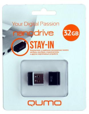 Флешка USB 32Gb QUMO NanoDrive USB2.0 черный QM32GUD-NANO-B