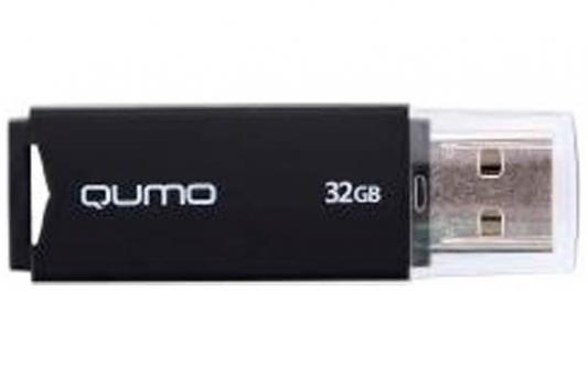 Флешка USB 32Gb QUMO Tropic USB2.0 черный QM32GUD-TRP-Black usb флешка qumo keeper 32gb silver qm32gud keep usb 2 0 microusb