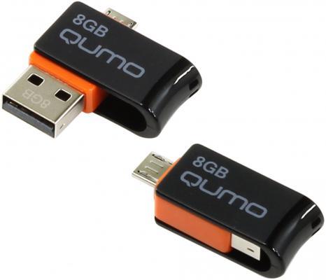 Флешка USB 8Gb QUMO Hybrid USB2.0 черный QM8GUD-Hyb