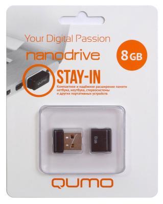 Флешка USB 8Gb QUMO NanoDrive USB2.0 черный QM8GUD-NANO-B