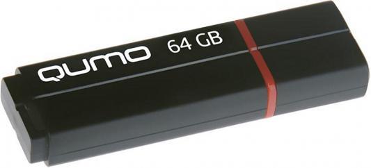 Флешка USB 64Gb QUMO Speedster USB3.0 черный QM64GUD3-SP-black usb флешка qumo hybrid 2 64gb black qm64gud3 hyb2 usb 3 0 type c