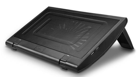 """Подставка для ноутбука 15.4"""" Deepcool WINDWHEEL FS 350x270x40mm 2xUSB 936g 23dB черный"""