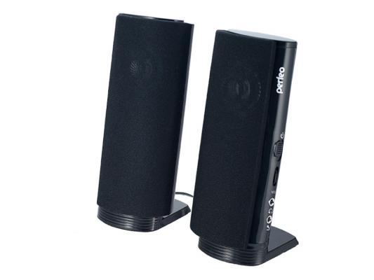 Колонки Perfeo PF-028 2x2 Вт USB черный
