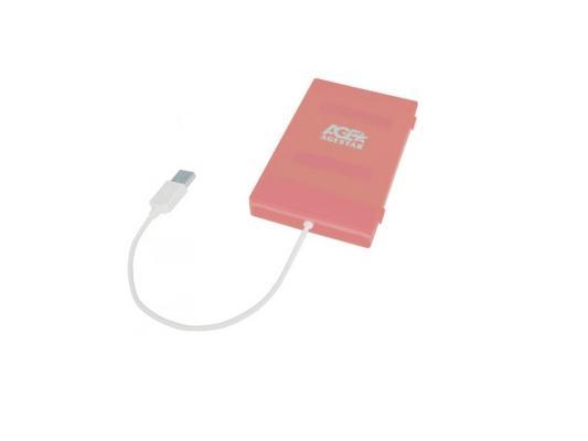 "все цены на Внешний контейнер для HDD 2.5"" SATA AgeStar SUBCP1 USB2.0 розовый"