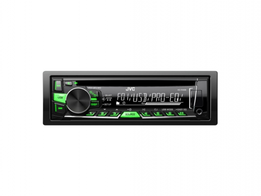 Автомагнитола JVC KD-R469EY USB MP3 CD FM 1DIN 4x50Вт черный