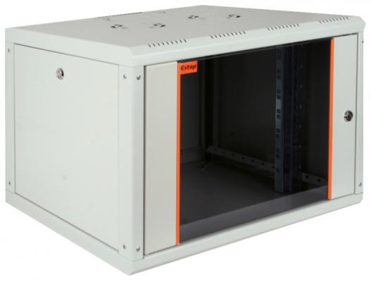 """все цены на Шкаф настенный 19"""" 16U Estap PROline PRL16U56GF1 600x560mm серый онлайн"""