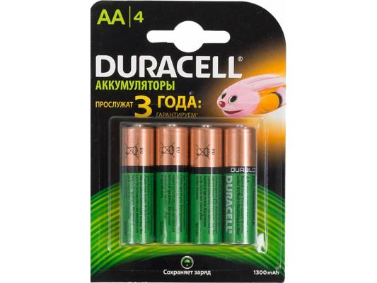 Аккумулятор Duracell HR6-4BL 1300 mAh AA 4 шт duracell cef14 4 hour charger