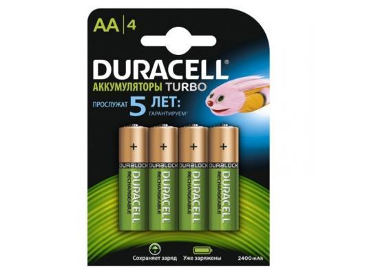 Аккумулятор Duracell Turbo HR6-4BL 2500 mAh AA 4 шт duracell cef14 4 hour charger 2 x aa1300mah