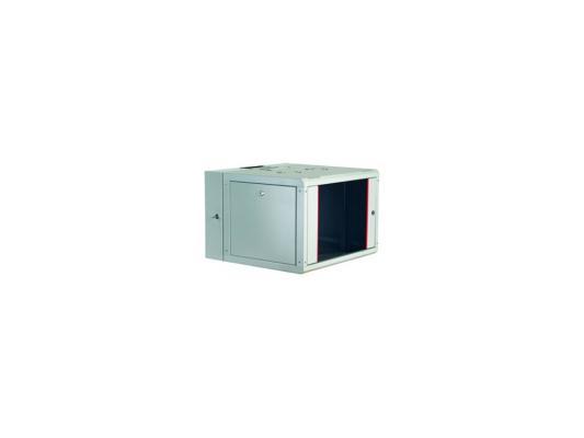 """Шкаф настенный 19"""" 9U Estap ProLine PRD9U56GF1 600x (160+450)mm дверь стекло с металлической рамой слева и справа серый"""