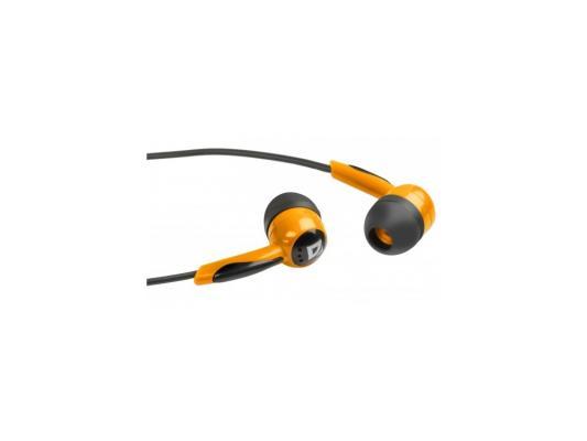 Наушники Defender Basic-604 оранжевый 63606 цена