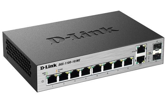 Коммутатор D-LINK DGS-1100-10/ME/A1A 8 портов 10/100/1000Mbps