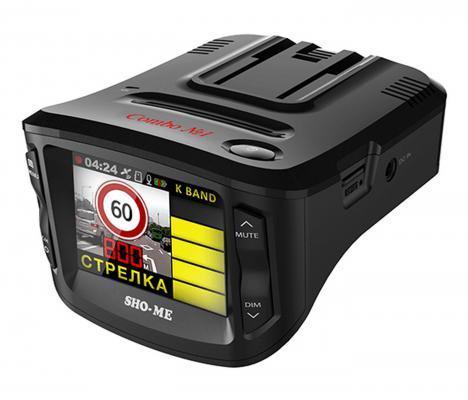 """Видеорегистратор Sho-Me Combo №1 2.31"""" 1920x1080 120° G-сенсор GPS microSD microSDHC"""