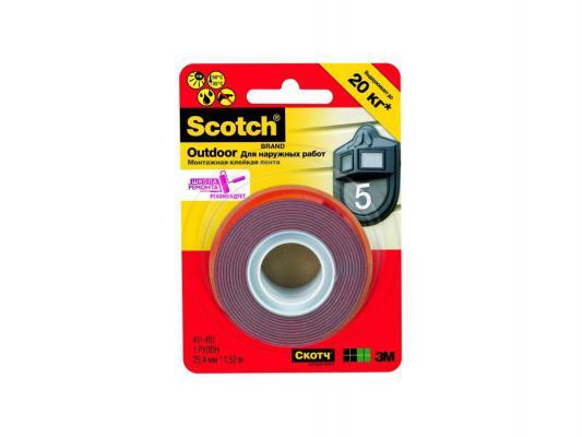 Клейкая лента монтажная 3M Scotch 25ммх44.4м для наружных работ 7100010521 от 123.ru