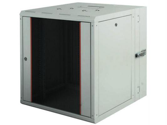 """Шкаф настенный 19"""" 7U Estap ProLine PRD7U56GF1 600x (160+450)mm дверь стекло с металлической рамой слева и справа серый"""