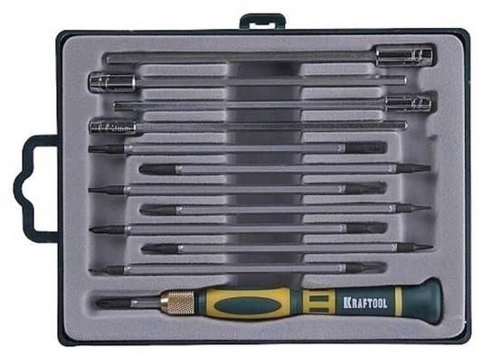 Набор отверточный Kraftool для точных работ с насадками 12шт 25611-H12