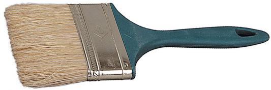 Кисть плоская Зубр УНИВЕРСАЛ-МАСТЕР КП-11 натуральная щетина пластмассовая ручка 100мм 4-01011-100