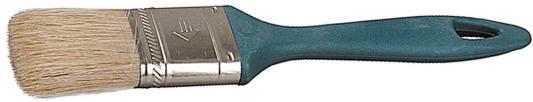 Кисть плоская Зубр УНИВЕРСАЛ-МАСТЕР КП-11 натуральная щетина пластмассовая ручка 38мм 4-01011-038