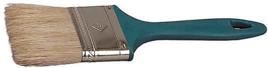 Кисть плоская Зубр УНИВЕРСАЛ-МАСТЕР натуральная щетина пластмассовая ручка 75мм 4-01011-075