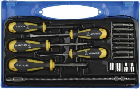 Набор отверточный Stayer PROFI 18шт 25134-H18 набор ключей комбинированных stayer master 27085 h6