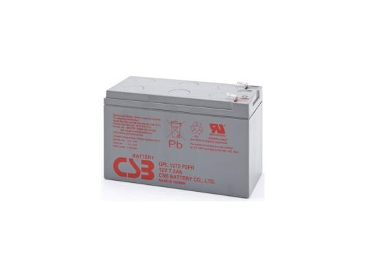 Батарея CSB GPL1272 F2FR 12V/7.2AH увеличенный срок службы до 10 лет батарея аккумуляторная csb gp1272 f2
