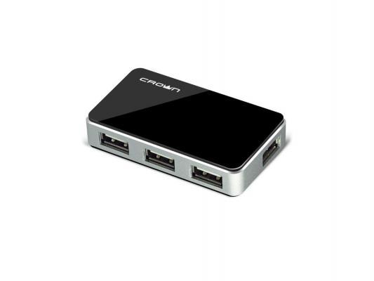 Концентратор USB Crown CMH-B19 4 порта черный