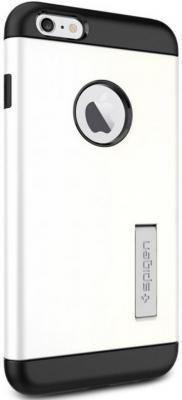где купить Чехол (клип-кейс) SGP Slim Armor Case для iPhone 6 Plus белый дешево