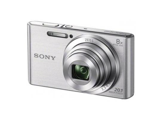Фотоаппарат Sony DSC-W830S 20.1Mp 8x Zoom серебристый