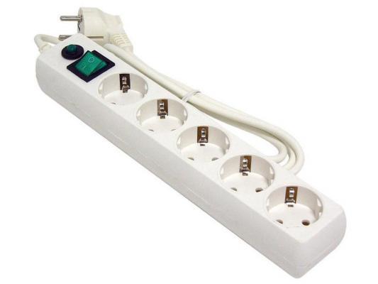 Сетевой фильтр Гарнизон ЕНLW-5 белый 5 розеток 1.4 м