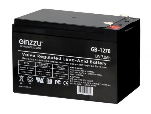 Батарея Ginzzu GB-1270 12V/7Ah цена 2017