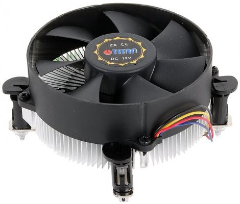Кулер для процессора Titan DC-156V925X/RPW Socket 1150/1155/1156 кулер titan dc 156v925x r intel lga 1150 1155 1156 95x95x45 3 pin 2200 rpm