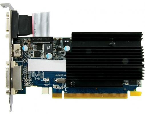 Видеокарта 1024Mb Sapphire R5 230 PCI-E GDDR3 64bit DVI HDMI HDCP 11233-01-20G Retail видеокарта asus geforce gtx 1060 1620mhz pci e 3 0 6144mb 8208mhz 192 bit dvi hdmi hdcp rog strix gtx1060 o6g gaming