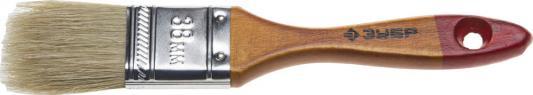 Кисть плоская Зубр УНИВЕРСАЛ-МАСТЕР натуральная щетина деревянная ручка 38мм 4-01003-038 кисть плоская аква стандарт искусств щетина 1 25мм зубр 01016 025