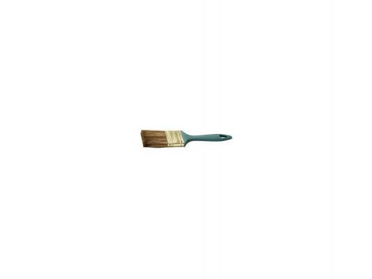 Кисть плоская Зубр КП-14 смешанная щетина пластмассовая ручка 100мм 4-01014-100 кисть плоская стандарт смешанная щетина пластиковая ручка 100 мм