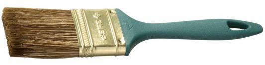 Кисть плоская Зубр КП-14 смешанная щетина пластмассовая ручка 63мм 4-01014-063 кисть плоская стандарт смешанная щетина пластиковая ручка 100 мм