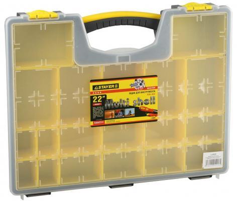 Ящик для инструмента Stayer MULTYSHEL 16.5 пластмассовый 2-38032 ящик stayer 2 38032
