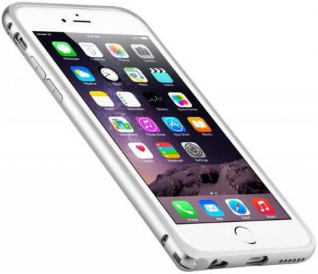 Бампер Melkco Q Arc Aluminium для iPhone 6 Plus серебристый APIP65ALQASRME
