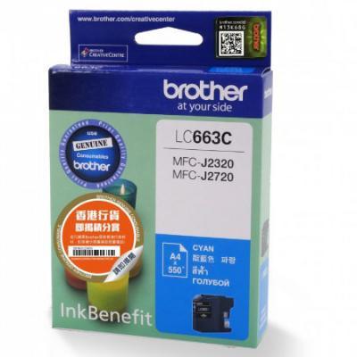 Картридж Brother LC663C для MFC-J2320 MFC-J2720 голубой картридж струйный brother lc663c