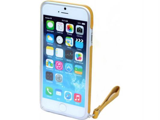 Накладка Cozistyle Leather Skin Bumper для iPhone 6 желтый CPH6B003