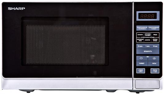 СВЧ Sharp R2772RSL 800 Вт серебристый свч gorenje mo21mge 800 вт серебристый