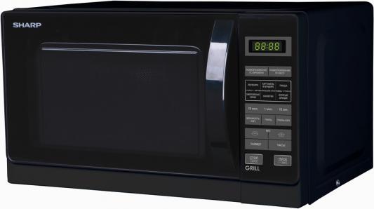 СВЧ Sharp R6672RK 800 Вт чёрный микроволновая печь sharp r 2000rw 800 вт белый черный
