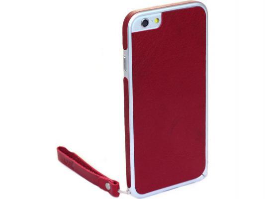 Накладка Cozistyle Leather Skin Bumper для iPhone 6 Plus красный CPH6+B005