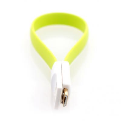 Кабель USB-microUSB 0.2м Gmini mCable MUS200F-M плоский зеленый