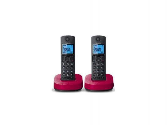 Радиотелефон DECT Panasonic KX-TGC312RUR черно-красный атс panasonic kx tem824ru аналоговая 6 внешних и 16 внутренних линий предельная ёмкость 8 внешних и 24 внутренних линий