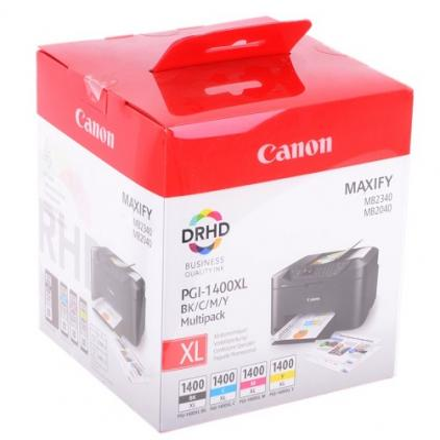 Картридж Canon PGI-1400XL BK/C/M/Y EMB MULTI для MAXIFY МВ2040 МВ2340 картридж canon pgi 1400bk c m y xl 9185b004 набор для canon maxify мв2040 2340 черный голубой пурпурный желтый