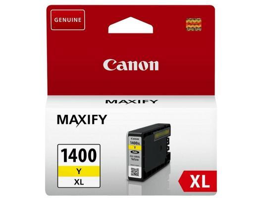 Картридж Canon PGI-1400XL Y для MAXIFY МВ2040 МВ2340 желтый 900стр картридж для струйных аппаратов canon pgi 2400xl c для maxify ib4040 мв5040 и мв5340 голубой 9274b001 9274b001