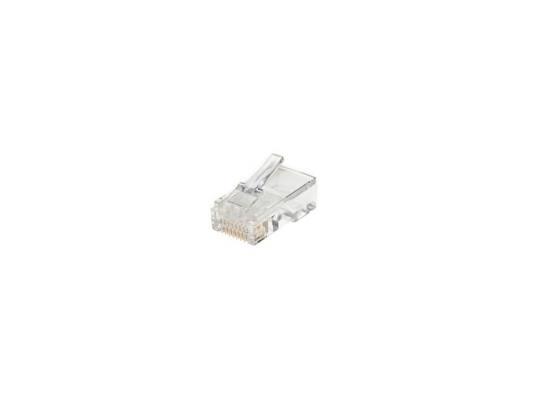 Коннектор RJ-45 8P8C UTP кабеля кат.5 AOpen ANM005 100шт VNA2200 коннекторы rj 45 8p8c для utp кабеля cat 6 telecom tc plug 8p8c s c6 100 шт в пакете