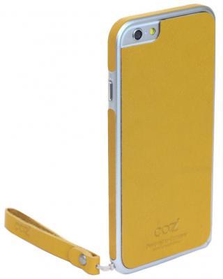 Накладка Cozistyle Leather Skin для iPhone 6 Plus желтый CPH6+B003