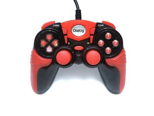 Геймпад Dialog Action GP-A15 вибрация подсветка черный/красный USB