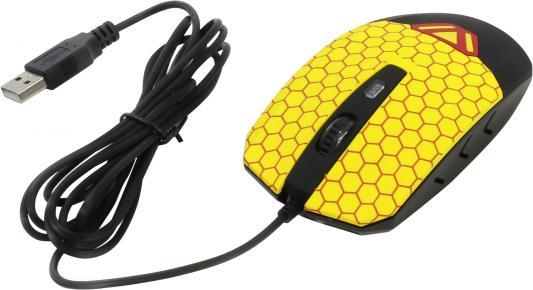 Мышь проводная CBR CM-833 Beeman чёрный жёлтый USB 2017 new i7 mini bluetooth earbud wireless earphones invisible headset with mic stereo bluetooth earphone fit ios android