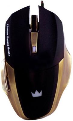 Мышь проводная Crown Gaming CMXG-604 чёрный золотистый USB мышь проводная crown cmxg 606 синий чёрный usb